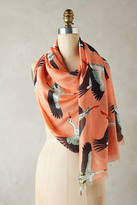 Anthropologie Graceful Swans Scarf
