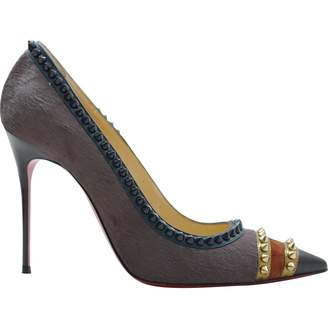 Christian Louboutin Brown Pony-style calfskin High Heel