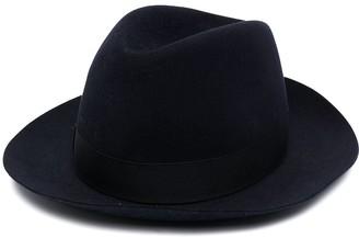 Borsalino Ribbon-Detail Fedora Hat