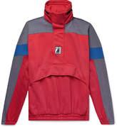 Balenciaga - Oversized Colour-Block Cotton-Blend Jersey Half-Zip Hoodie