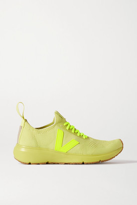 Rick Owens Veja Rubber-trimmed V-knit Sneakers - Bright yellow