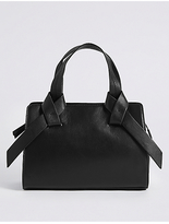 M&S Collection Leather Knot Detail Grab Tote Bag