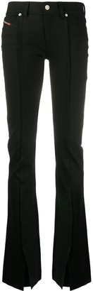Diesel Front Slit Flared Trousers