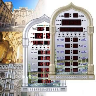 Kadell Automatic Mosque Clock Azan/Athan Wall Clock Prayer Muslim Prayer Ramadan Home Decor Gift