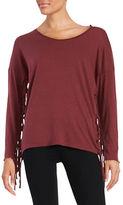 Nation Ltd. Fringed Knit Top