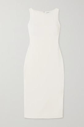Brandon Maxwell Crepe Midi Dress - Ivory