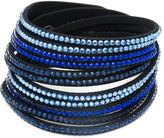 Swarovski Sevil Designs Women's Bracelets Black - Dark Blue & Black Wrap Bracelet With Crystals