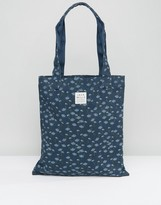 Jack Wills Navy Floral Tote Bag