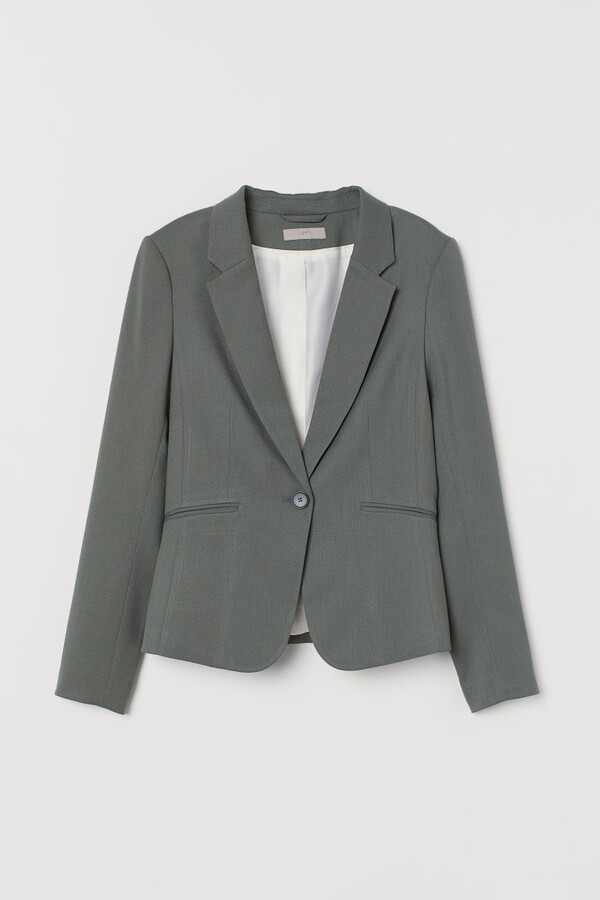 Thumbnail for your product : H&M Fitted Blazer - Green