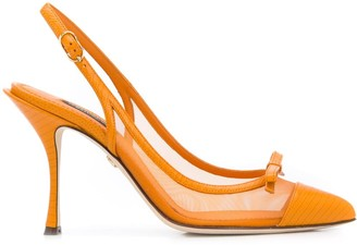 Dolce & Gabbana Bow Detail Mesh Pumps