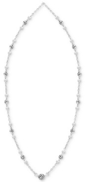 "Lois Hill Filigree Bead 18"" Statement Necklace in Sterling Silver"