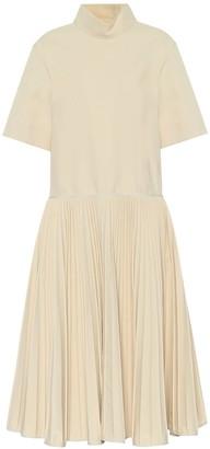 Jil Sander Cotton-blend midi dress