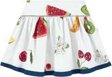 MonnaLisa Printed skirt with cabochons