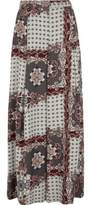 River Island Womens Grey scarf print wide leg trousers