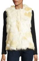 Collection 18 Faux-Fur Knit Back Vest