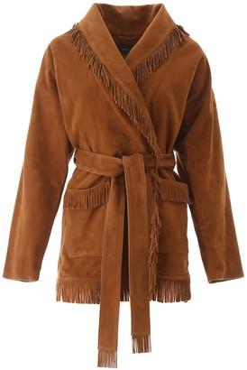 Alanui Suede Leather Cardigan