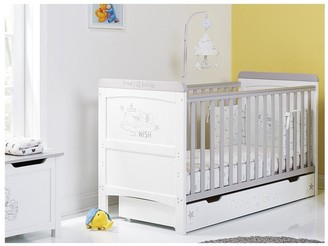 Winnie The Pooh Deluxe Cot Bed withUnder Drawer Storage - Dreams & Wishes