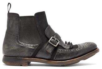 Church's Shanghai 6 Distressed Chelsea Boots - Womens - Black