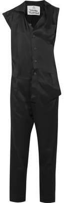 Vivienne Westwood Sinead Asymmetric Satin Jumpsuit - Black