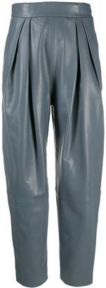 Alberta Ferretti Tapered Leather Trousers
