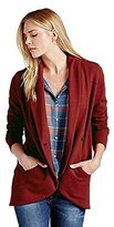 Lucky Brand Apparel Daryn Cocoon Cardi Pac Red L Womens Cardigan