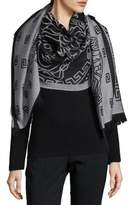 Versace Fringe End Wool Scarf