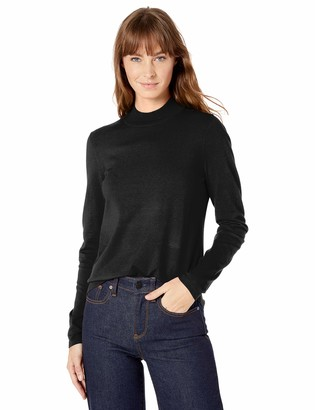 Lark & Ro Warm Handed Synthetic Mock Neck Sweater Marshmallow
