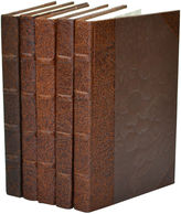 One Kings Lane S/5 Leather Paper Books, Chocolate