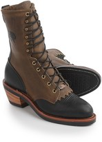 """Chippewa Black/Bay Crazy Horse Packer Boots -10"""", Steel Toe, Leather (For Men)"""