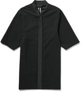 Rick Owens - Oversized Poplin-trimmed Seersucker Shirt
