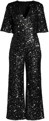 Black Halo Keely Sequin Jumpsuit