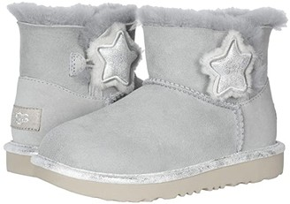 UGG Mini Bailey Button II Star (Little Kid/Big Kid) (Gray Violet) Girl's Shoes