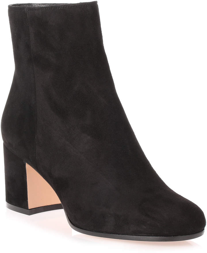 Gianvito Rossi Margaux black suede ankle boot