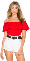 Susana Monaco Ruffle Off Shoulder Top
