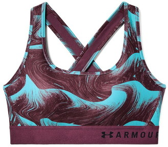 Under Armour Armour Crossback Print Sports Bra Ladies