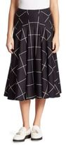 Akris Punto Pleated Printed Skirt