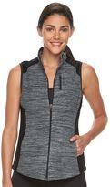 Tek Gear Petite Two-Tone Microfleece Vest