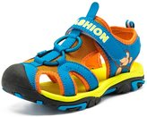 Femizee Boys Girls Adventure Seeker Adjustable Velcro Strap Closed Toe Sandal Fashion Shoes(Toddler/Little kid/Big kid)