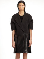 Alexander Wang Wool & Leather Coat
