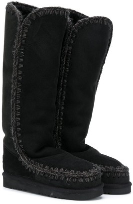 Mou Kids Knee-High Suede Boots