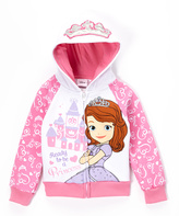 Children's Apparel Network Sofia the First Zip-Up Hoodie - Girls