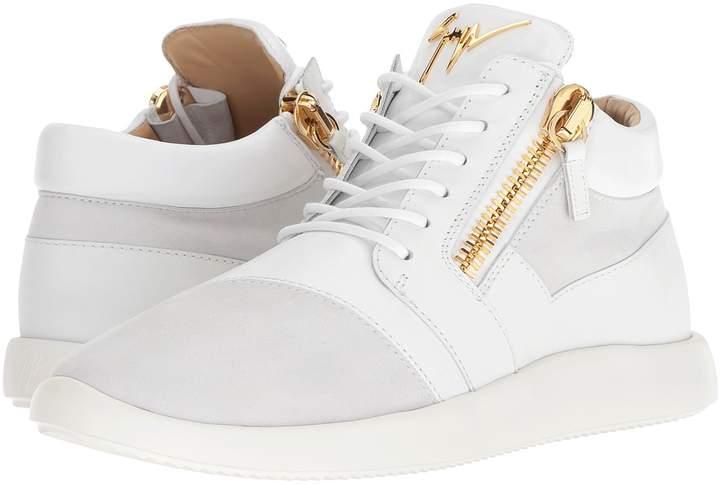 Giuseppe Zanotti Singles Cupsole Nappa/Suede Mid Top Sneaker Men's Shoes