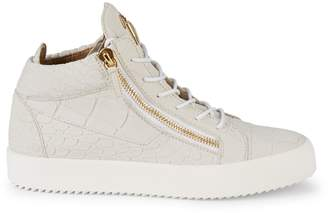 Giuseppe Zanotti Metallic Snakeskin High-Top Sneakers