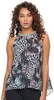 JLO by Jennifer Lopez Women's Embellished Leopard Tank