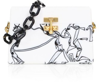 Edie Parker Miss Mini Graphic Acrylic Shoulder Bag