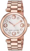 Marc Jacobs Women's 'Dotty' Quartz Stainless Steel Casual Watch, Color:Rose Gold-Toned (Model: MJ3519)