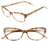 Corinne McCormack Women's 'Jenni' 53Mm Cat Eye Reading Glasses - Tan Marble
