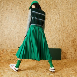 Lacoste Fashion Show Edition Solid Long Pleated Skirt