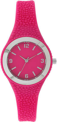 FASHION WATCHES Womens Pink Rubber Strap Watch