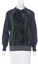 Cédric Charlier Shearling & Wool Sweater